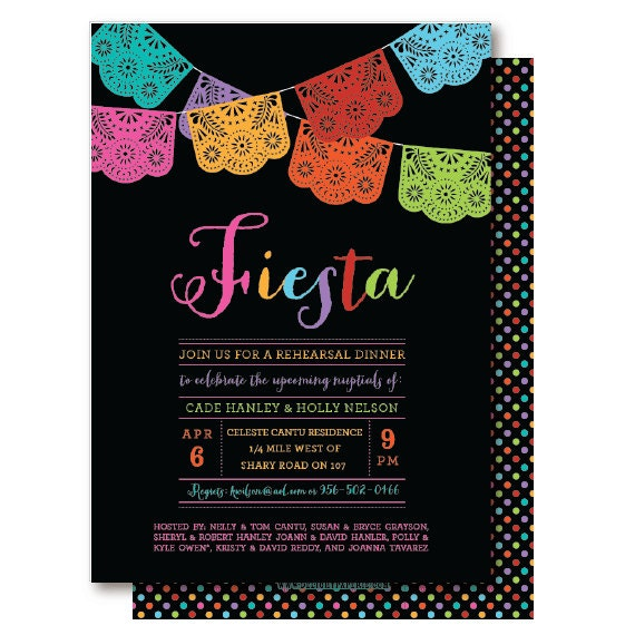 Papel Picado Mexican Themed Party Rehearsal Dinner