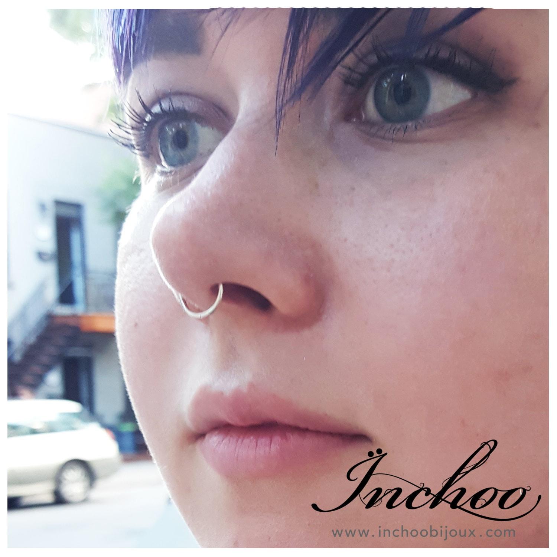 Septum Nose Ring, Simple Minimal Nose Hoop, Nose Piercing, Lip Ring ...