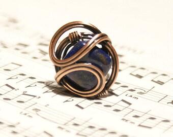 Wire-wrap Ring Kupfer Ring einstellbare Draht gewickelt