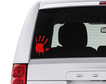 Bloody Zombie Hand Indoor/Outdoor Decal