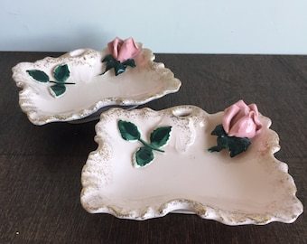Lefton's Pink Rose Dishes