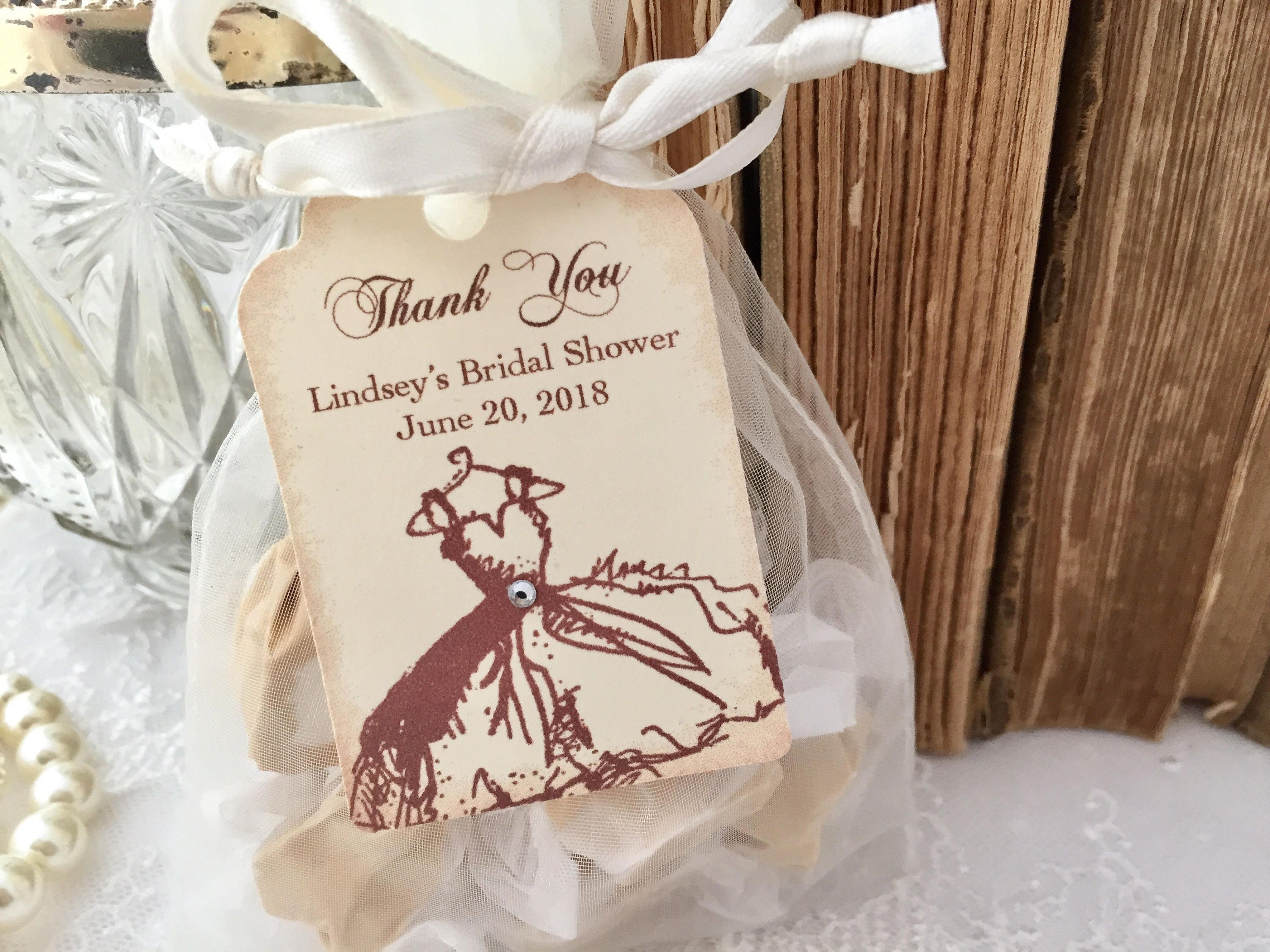 Bridal Shower Bags and Tags Organza Bags Set of 10