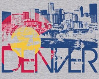 Men's Denver Skyline w/ Colorado Flag