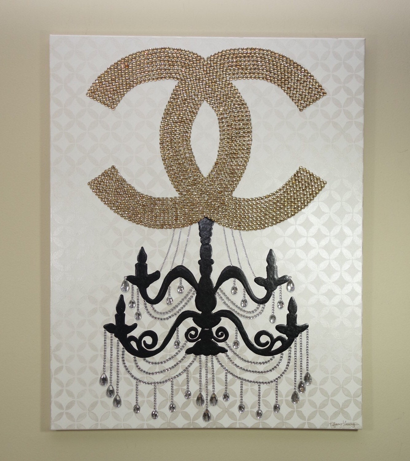Chanel chandelier glam 24x30 fashion art chanel inspired zoom arubaitofo Images