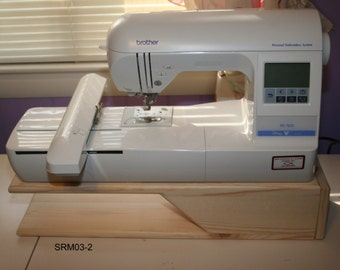 Embroidery/Sewing Machine Riser  24 Long X 7 Wide X 4-3/4 Tall, Pine sanded ready to finish  :SRM03