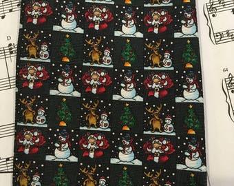Christmas Necktie, Santa Tie, Snowman Tie, Holiday Tie
