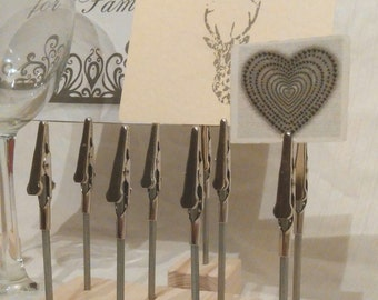 10x name card place card holders weddings displays stand clip table number 10cm tall