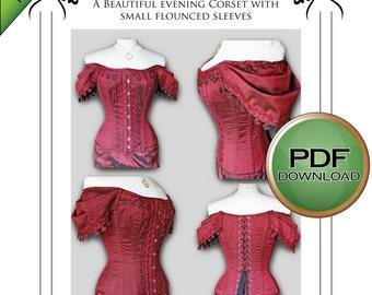 Corset pattern, Sewing Pattern, Steampunk, Pdf Pattern, Wedding, gothic, Burlesque Full size pattern Medium