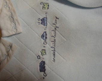 Embroidered Baby Boy's Sleeper Size 9 Months
