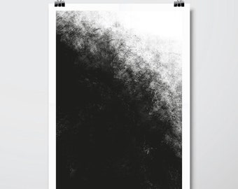Abstract painting, black and white