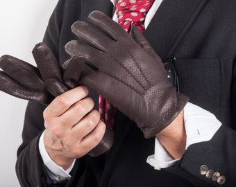 Mens Leather Gloves Made In Italy Winter Gloves Leather Gloves Dress Gloves Italian Leather Gloves Leather Gloves Men Gift for Him // Ameek