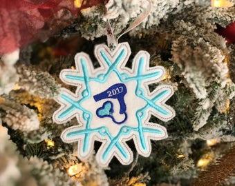 Hairdresser Ornament - Scissor Snowflake - Gift Card Holder - Gift Card Sleeve - Christmas Ornament - Hairdresser Gift - Christmas Gift