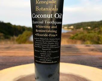 Charcoal-Coconut Oil Whitening Toothpaste