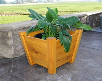 Planter Box, Tapered Wooden Western Red Cedar
