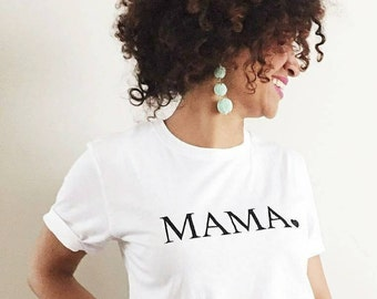 MAMA Heart Boyfriend Tee, Mama Shirts, Mama Tee, Mama Top, Mama Tshirt, Mom Life Tshirt, Mama Shirt, Mom Tee, Mom Tshirt, Mama Shirt
