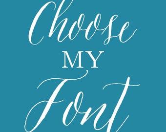 Choose My Font