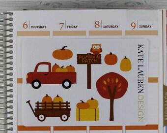 Pumpkin Patch Planner Stickers, Autumn Stickers, Fall Stickers, Pumpkin Patch Stickers, Fall Planner, Autumn Planner