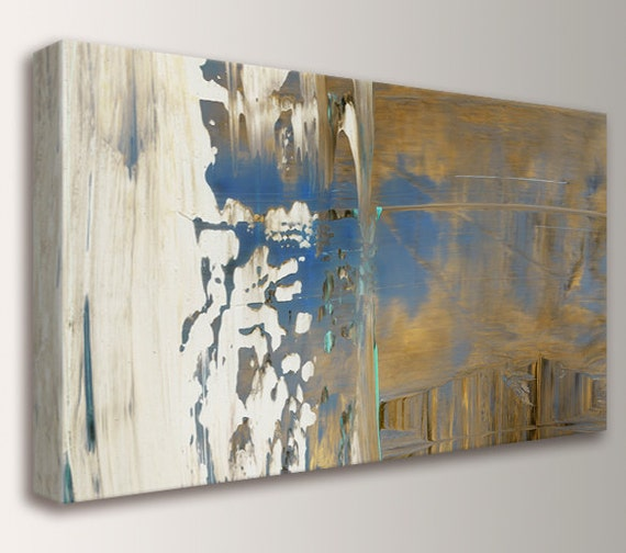 "Abstract Painting Panoramic Art Canvas Print Abstract Expressionist Modern Home Decor "" Perspective """