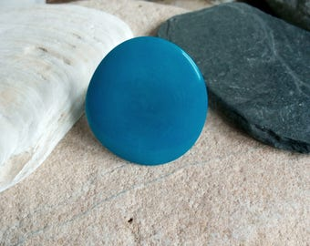 1339 turquoise ring ivory tagua or vegetable