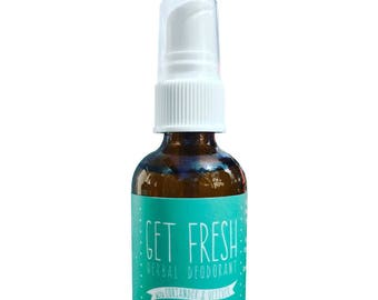 Deodorant Spray, Coriander & Vetiver, Organic, Herbal Extracts, Himalayan Salt, Pure Essential Oils