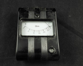Vintage ohm meter resistance meter electrical engineering power meter measuring device made in Germany gossen
