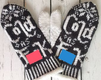 Cold As fuck, novelty mittens, winter gloves , gag gifts, swear words, cursing mittens, knit mittens