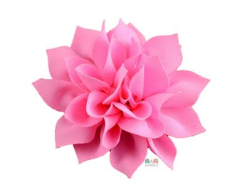 Pink DIY Satin Fabric flower Layered chiffon Flowers , Fabric Flower, Craft Supplies, DIY Flower, DIY supplies, Embellishment