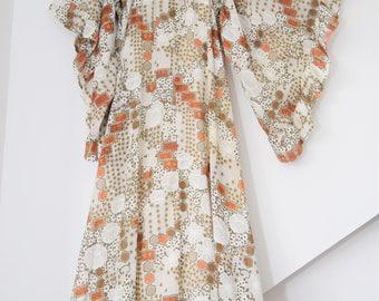 1960s maxi Dress angel sleeve Gypsy Festival dress Folk boho hippy maxi dress s Uk 8 10 US  4 6 70s  angel sleeves