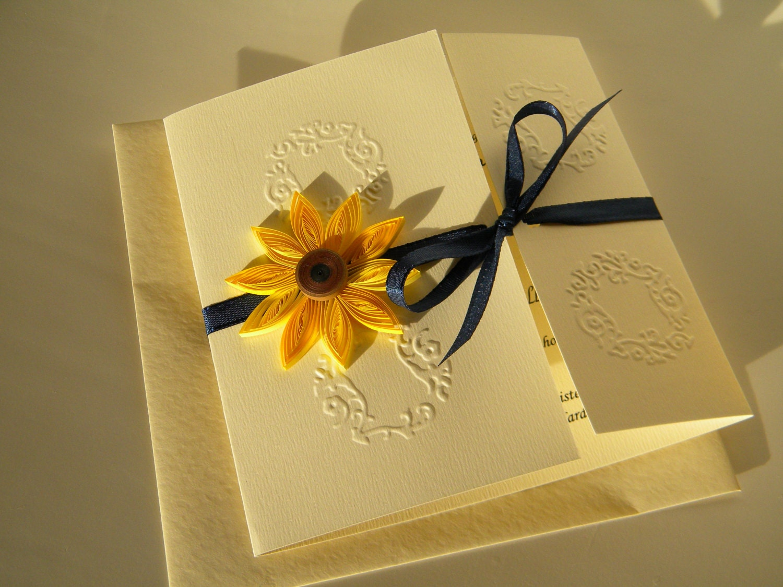 Sunflower and navy blue wedding invitation sunflower and zoom filmwisefo Choice Image