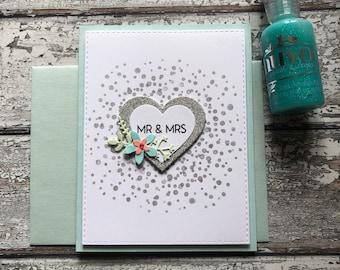 Heart Wedding Greeting Card
