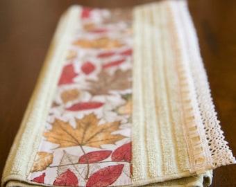 Fall Leaf Hand Made Towel