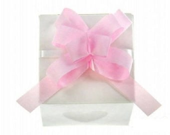 Pink 50 glossy knots for decoration small containers