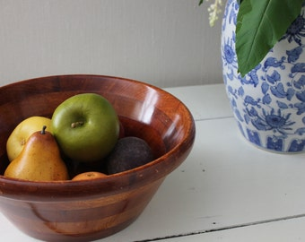 Lacquered Wooden Bowl