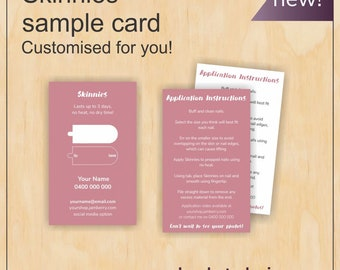 Skinnies Sample cards for Jamberry consultants in rose!