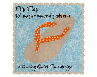 Flip Flop Paper Pieced Pattern