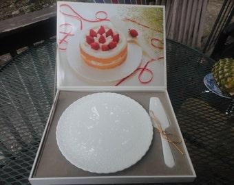 UNUSED Mikasa Cake Plate Serving Set 11 1/2 Diameter
