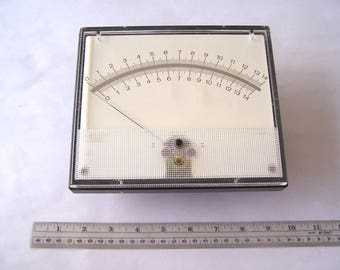 Analog Panel Meter Face 7 1/2 Inches Across, Steampunk Supply, Clear Meter Face, pH Meter Face, Steampunk Parts, Square Meter Face