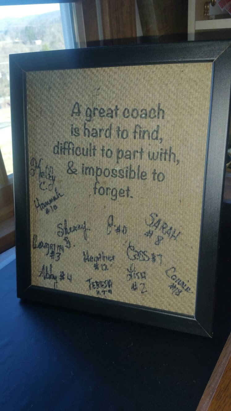 Coach Gift Personalized Coach Gift Unique Coach Gift End Of