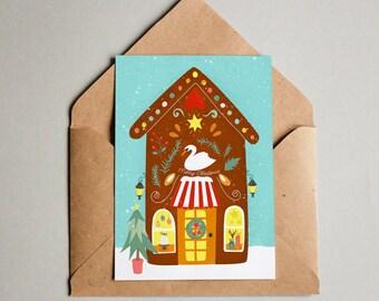 Kerstkaart Weihnachtskarte Ansichtkaart Postkaart Kaart Fijne Feestdagen - Merry Christmas