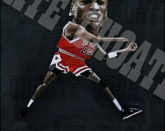 "Michael Jordan, Chicago Bulls vs Cleveland Cavaliers Playoff ""The Shot""  Art Print"