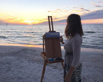 Sunset over Ocean Painting Follow the Sun