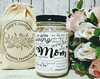 Mom Candle - Soy Candle - Candle With Quotes - Pure Soy candle - Candle Gift For Mom - Gift for Mom - Gift For Her - Unique Gift for Mom