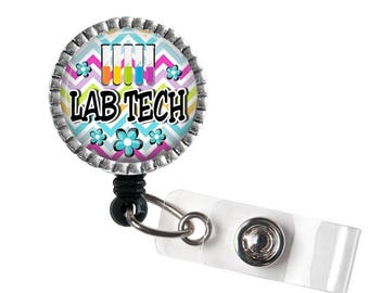 Lab Tech ID Badge Holder, Badge Reel Gift
