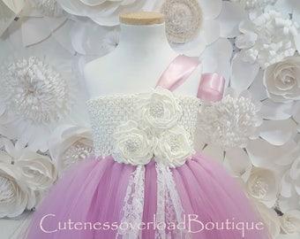 Dusty Rose Flower Girl Tutu Dress-Dusty Rose Tutu Dress-Dusty Rose Girl Tutu-Dusty Rose Birthday Tutu-Dusty Rose Wedding.