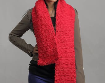 Red Thick Scarf