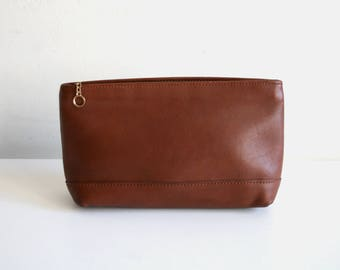 British Tan Coach Wallet Makeup Bag