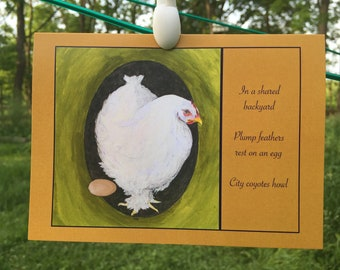 4-pack Chicken Haiku Greeting Cards