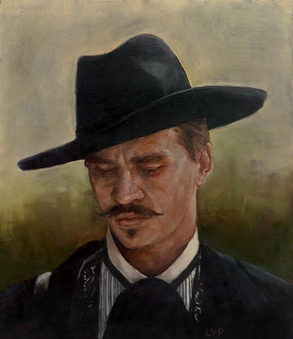 Doc Holliday from the movie Tombstone, Oil Painting