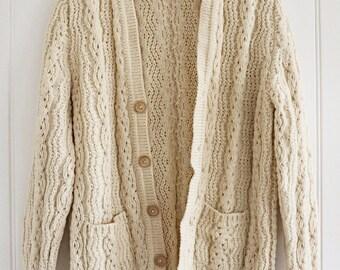 Vinage Cream Knit Cardigan