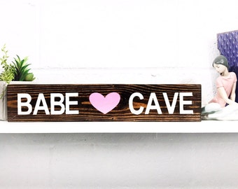 Babe Cave Wood Block by BeaWOODtiful